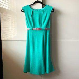Light Green Dress with flattering waist line